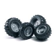 Аксессуары Bruder A: Шины для системы сдвоенных колёс с серебр. дисками 4шт.