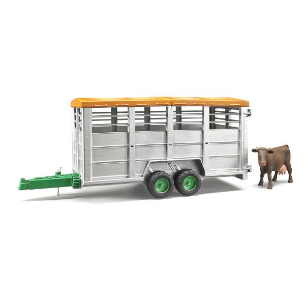 Прицеп Bruder для перевозки животных с коровой