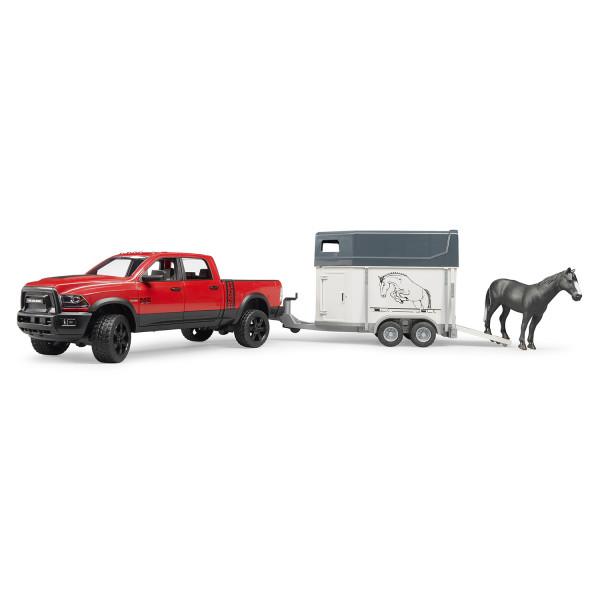 Пикап Bruder RAM 2500 c коневозкой и одной лошадкой