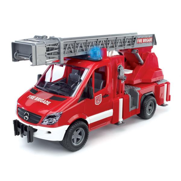 MB Sprinter пожарная машина Bruder с лестницей и помпой с модулем со световыми и звуковыми эффектами