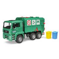 """Мусоровоз Bruder MAN TGA (цвет зеленый) (подходит модуль со звуком и светом """"H"""")"""