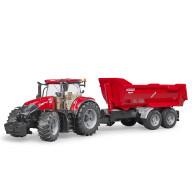 Трактор Bruder Case IH Optum 300 CVX с прицепом Krampe Tandem-Halfpipe