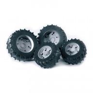 Аксессуары Bruder K: Шины для системы сдвоенных колёс с серыми дисками 4шт.