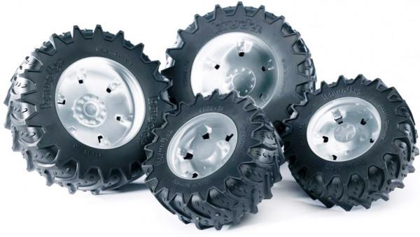 Аксессуары Bruder K: Шины для системы сдвоенных колёс с серебристыми дисками 4шт.