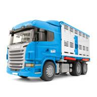 """Фургон Bruder Scania для перевозки животных с коровой (подходит модуль со звуком и светом """"H"""")"""