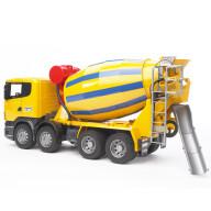 """Бетономешалка Bruder Scania (цвет жёлто синий) (подходит модуль со звуком и светом """"H"""")"""