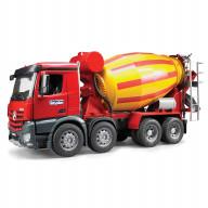 """Бетономешалка Bruder Mercedes-Benz (цвет желто-красный) (подходит модуль со звуком и светом """"Н"""")"""