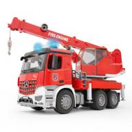 Пожарная машина автокран Bruder MB Arocs с модулем со световыми и звуковыми эффектами