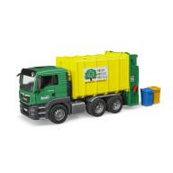 """Мусоровоз Bruder MAN TGS (цвет зеленый/желтый) (подходит модуль со звуком и светом """"H"""")"""