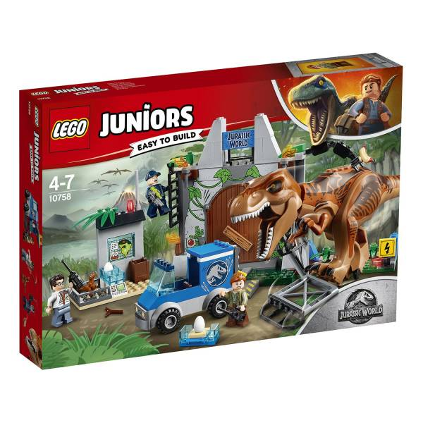 "Конструктор LEGO Juniors Jurassic World ""Побег Ти-Рекса"""