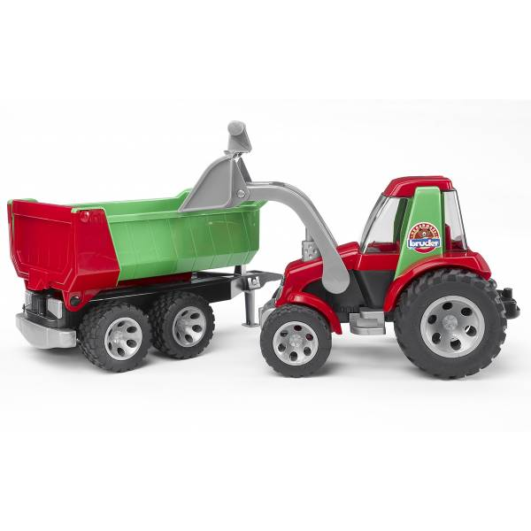 ROADMAX Трактор с ковшом и прицепом Bruder