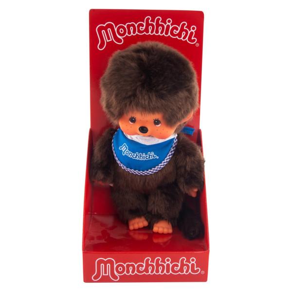 Monchhichi 20 см мальчик в синем слюнявчике