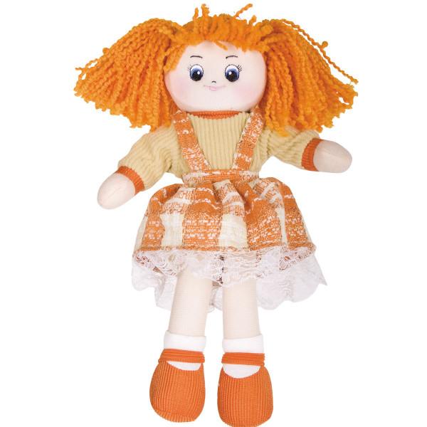 Кукла мягкая Gulliver Апельсинка в клетчатом платье , 30 см