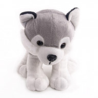 "Мягкая игрушка  ""Button Blue"", Собака Хаски Грей, 17 см."