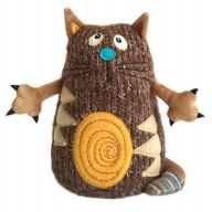 Мягкая игрушка Gulliver Кот Котейка, 15 см коричневый