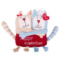Мягкая игрушка Gulliver Кот и кошка «Счастливы вместе», 15 см