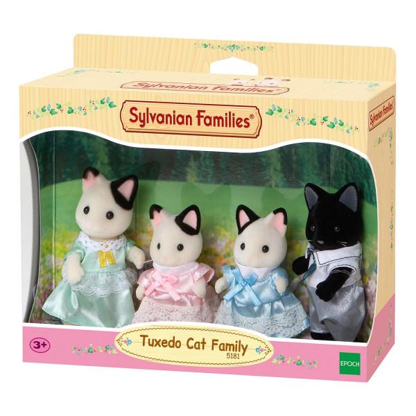 """Sylvanian Families набор """"Семья Чёрно-белых котов"""""""