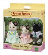 Семья Черно-белых котов (3 фигурки)