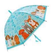 Зонт детский Щенки, 48см, свисток, полуавтомат