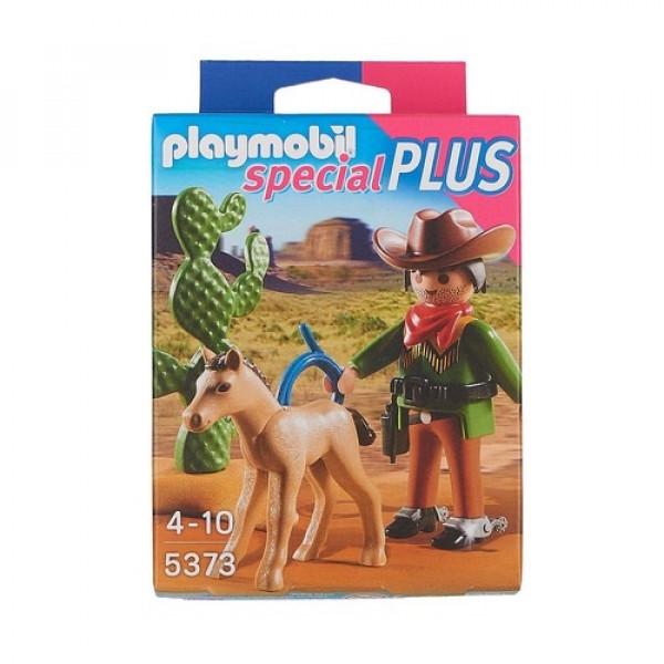 Конструктор Playmobil Экстра-набор: Ковбой с жеребенком