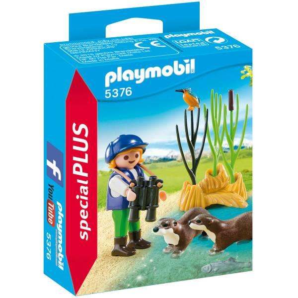 Конструктор Playmobil Экстра-набор: Молодой исследователь с выдрами