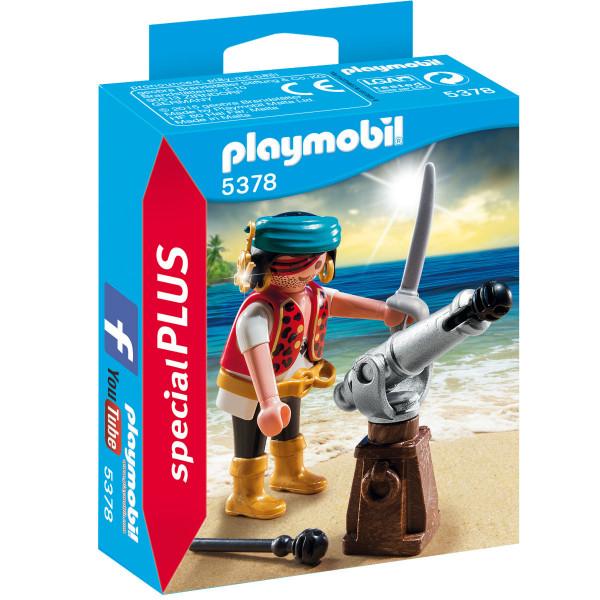 Конструктор Playmobil Экстра-набор: Пират с пушкой