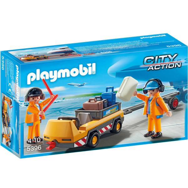Конструктор Playmobil Городской Аэропорт: Буксир самолета с наземной командой