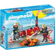 Конструктор Playmobil Городской Аэропорт: Операция по тушению пожара с водяным насосом
