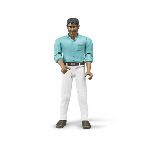 Мужчина мексиканец в белых джинсах Bruder