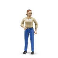 Фигурка Bruder женщины, голубые джинсы