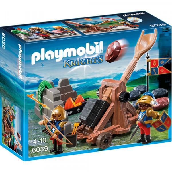 Конструктор Playmobil Рыцари: Катапульта рыцарей Львов