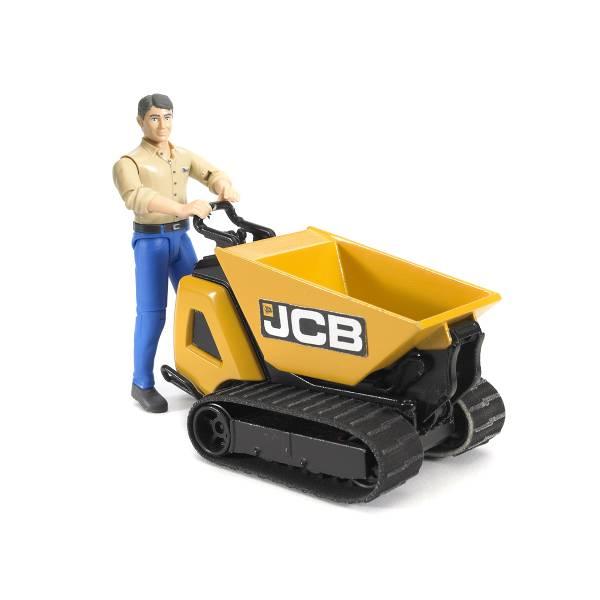 Гусеничный перевозчик сыпучих грузов Bruder JCB Dumpster HTD-5 с рабочим