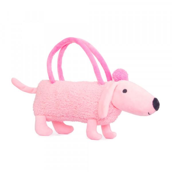 "Мягкая игрушка ""Button Blue"", Собачка-сумочка розовая, 35 см"