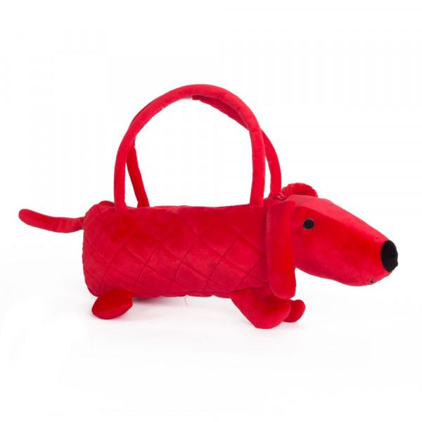 Button Blue мягкая игрушка Собачка-сумочка красная