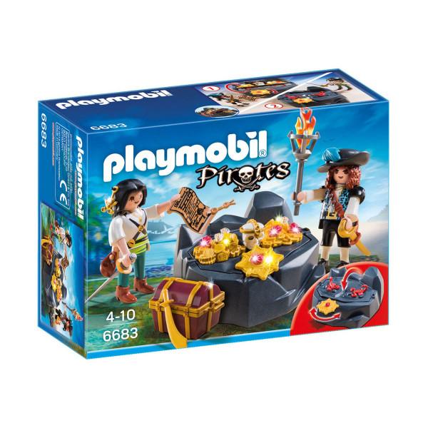 Конструктор Playmobil Пираты: Пиратский тайник с сокровищами