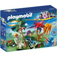 Конструктор Playmobil Супер4: Затерянный остров с Алиен и Хищником