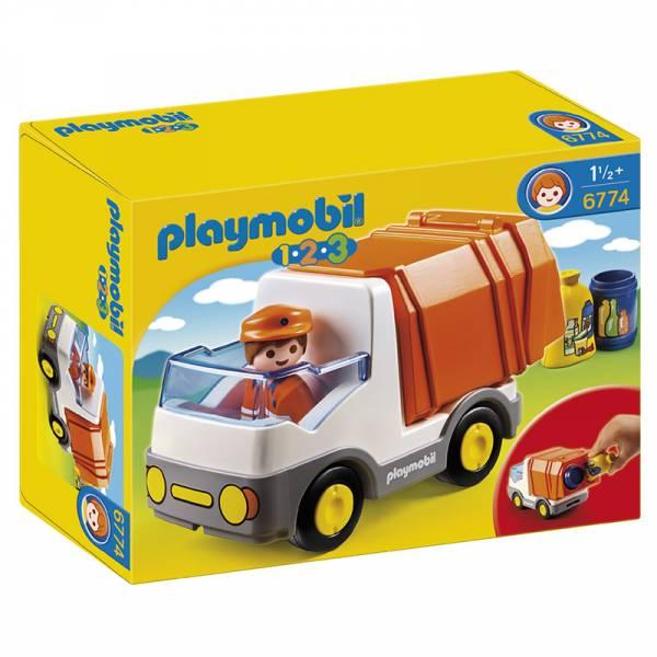 Конструктор Playmobil 1.2.3.: Мусоровоз