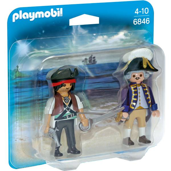 Конструктор Playmobil ДУО: Пират и Солдат