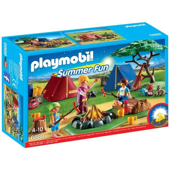Конструктор Playmobil Летний лагерь: Турбаза со светодиодным костром