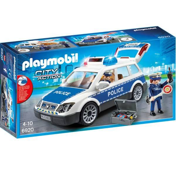 Конструктор Playmobil Полиция: Полицейская машина со светом и звуком