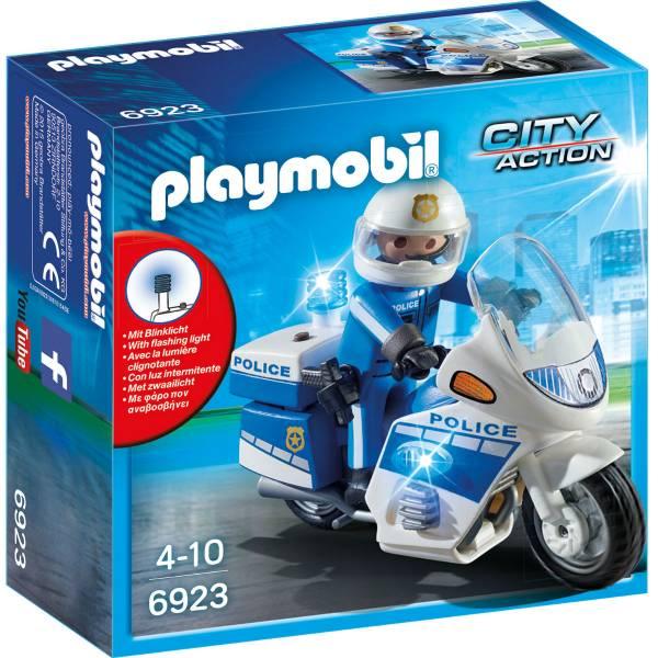 Конструктор Playmobil Полиция: Полицейский мотоцикл со светодиодом