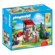 Конструктор Playmobil Конный клуб: Грумерская станция для лошадей