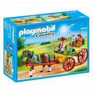 Конструктор Playmobil Конный клуб: Гужевая повозка