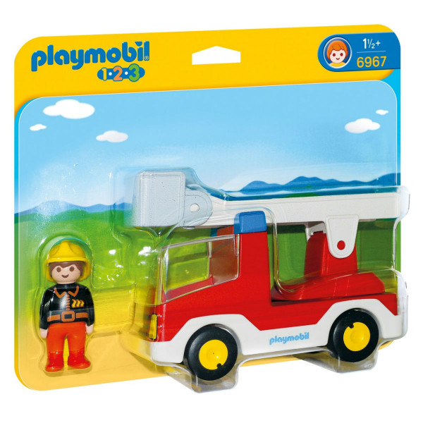 Конструктор Playmobil 1.2.3.: Пожарная машина с лестницей
