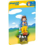 Конструктор Playmobil 1.2.3.: Женщина с собакой