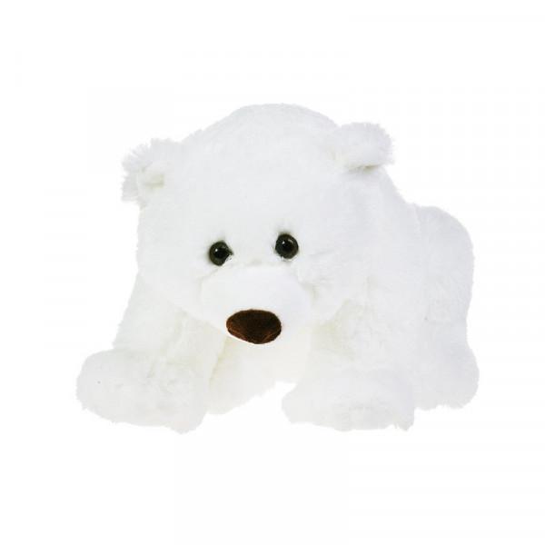 Мягкая игрушка Gulliver Медведь белый, лежачий 43 см