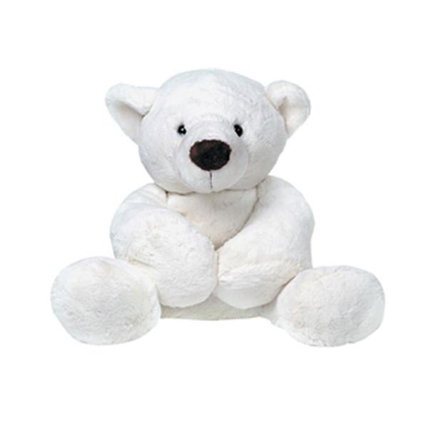 Мягкая игрушка Gulliver Медведь белый, лежачий, 23 см