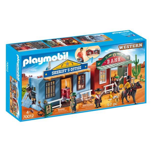 Конструктор Playmobil Возьми с собой: Город ковбоев