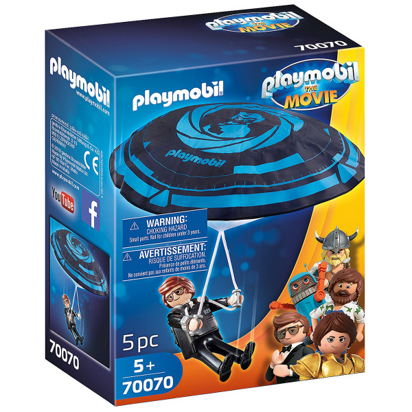 Конструктор Playmobil Фильм: Рекс Дашер с парашютом