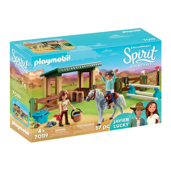Конструктор Playmobil Spirit: Манеж с Лакки и Хавьер